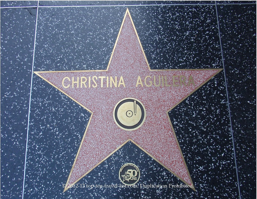 Christina Aguilera star on Hollywood Walk of Fame