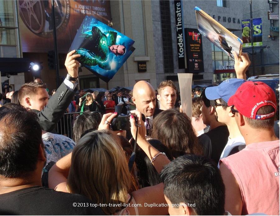 Mark Strong at Green Lantern premiere