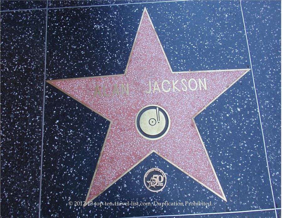 Alan Jackon star at Hollywood Walk of Fame