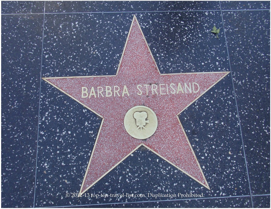 Barbara Streisand star on Hollywood Walk of Fame