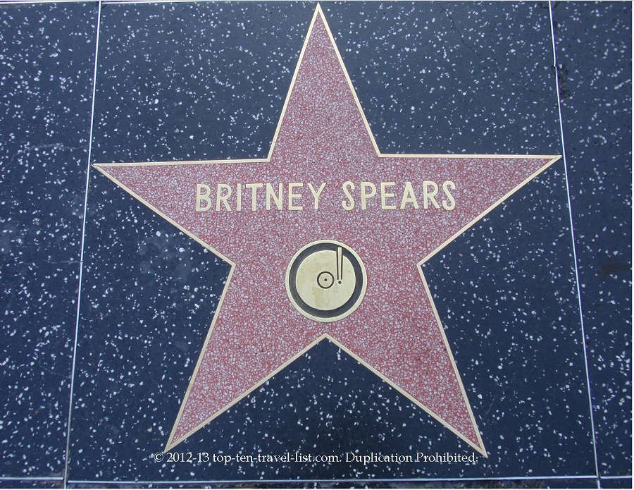 Britney Spears star on Hollywood Walk of Fame