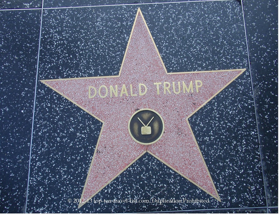Donald Trump star on Hollywood Walk of Fame