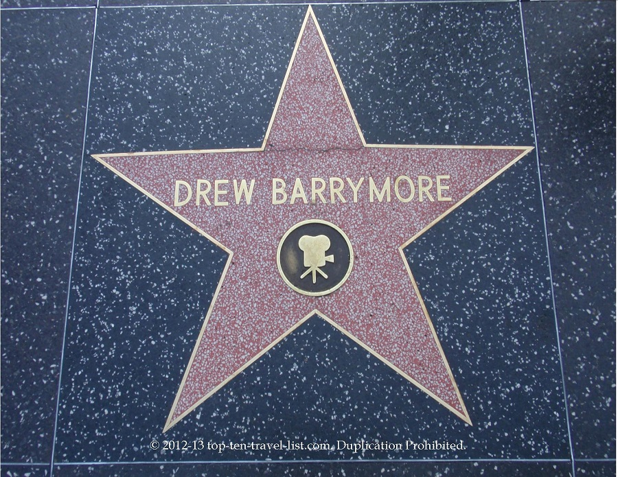 Drew Barreymore star on Hollywood Walk of Fame