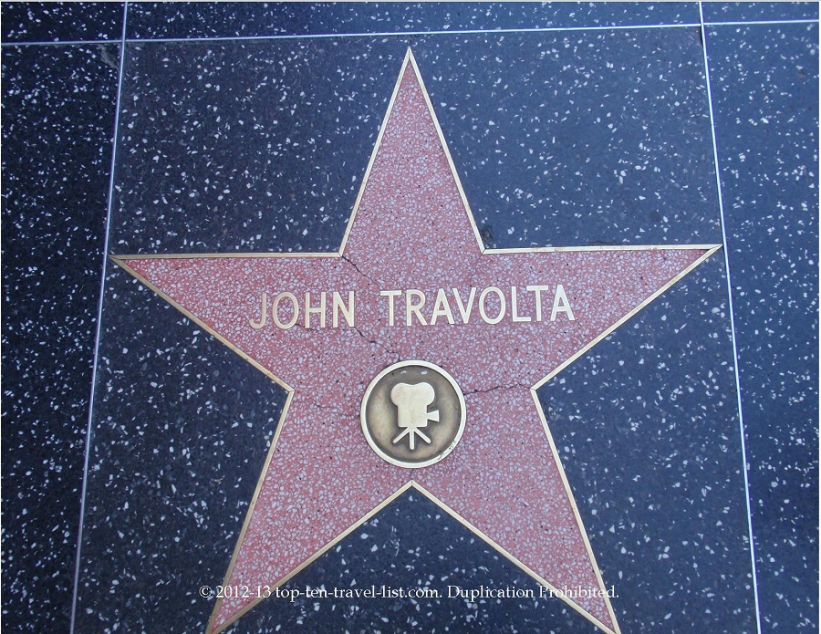 John Travolta star on Hollywood Walk of Fame