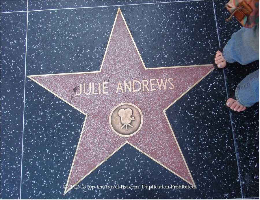Julie Andrews star on Hollywood Walk of Fame