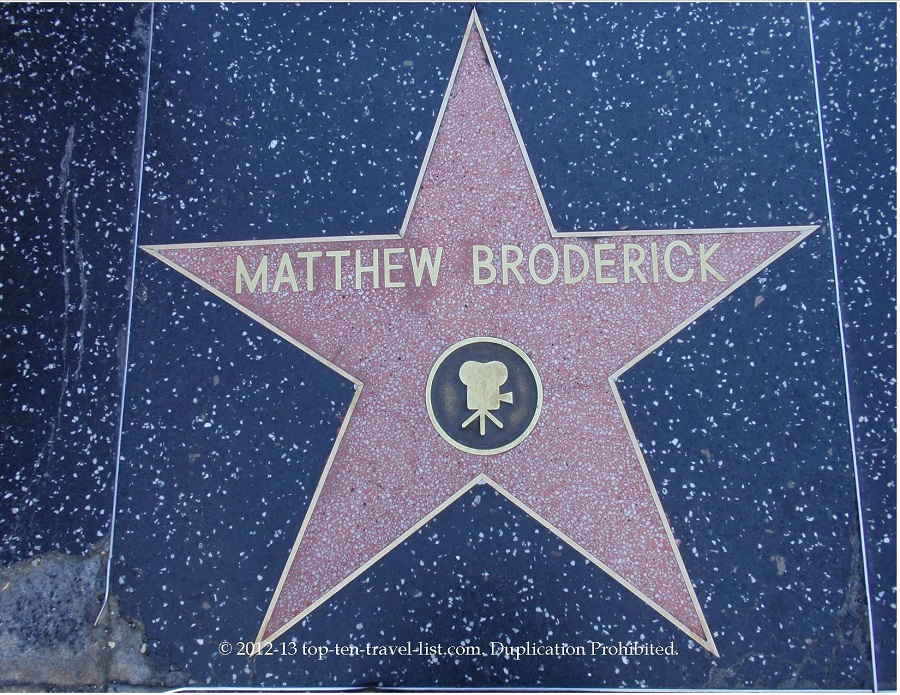 Matthew Broderick star on Hollywood Walk of Fame