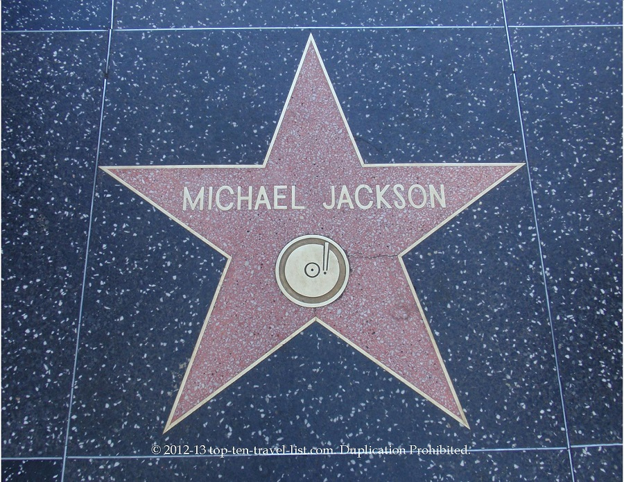 Michael Jackson star on Hollywood Walk of Fame