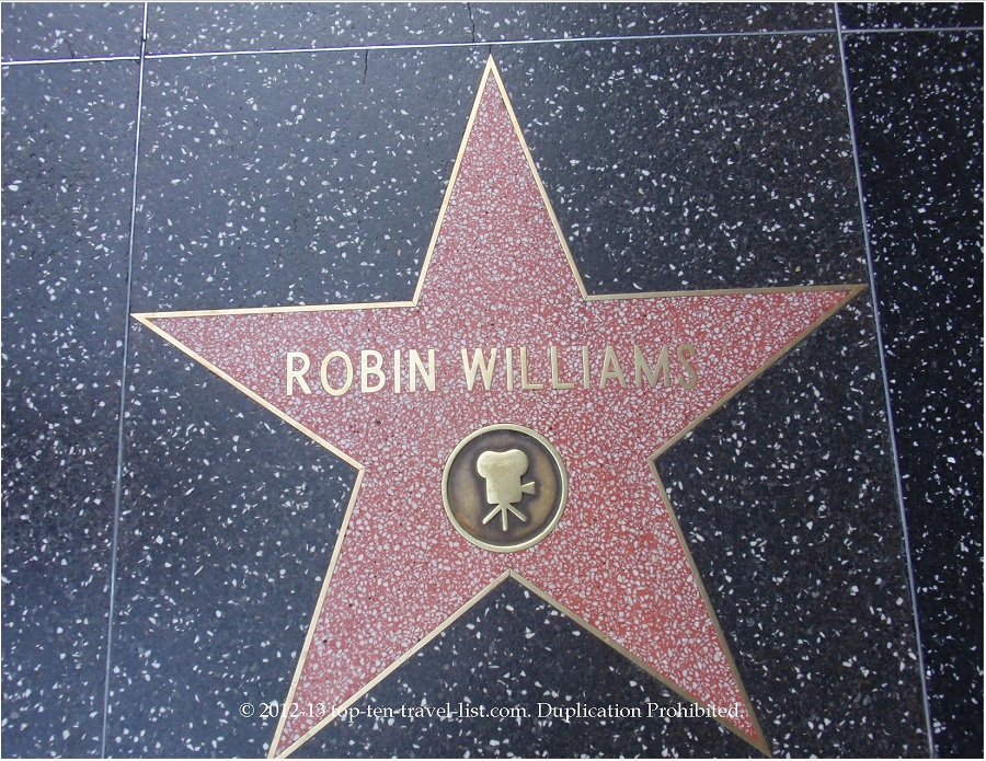 Robin Williams star on Hollywood Walk of Fame