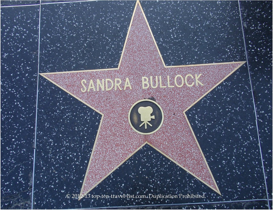 Sandra Bullock star on Hollywood Walk of Fame