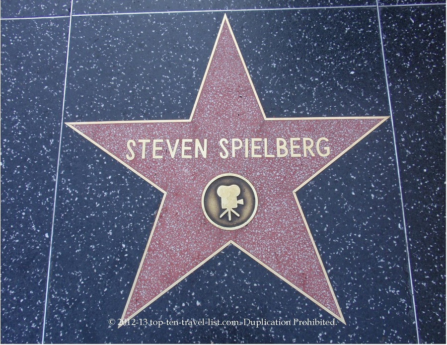 Steven Spielberg star on Hollywood Walk of Fame