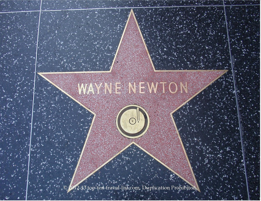 Wayne Newton star on Hollywood Walk of Fame