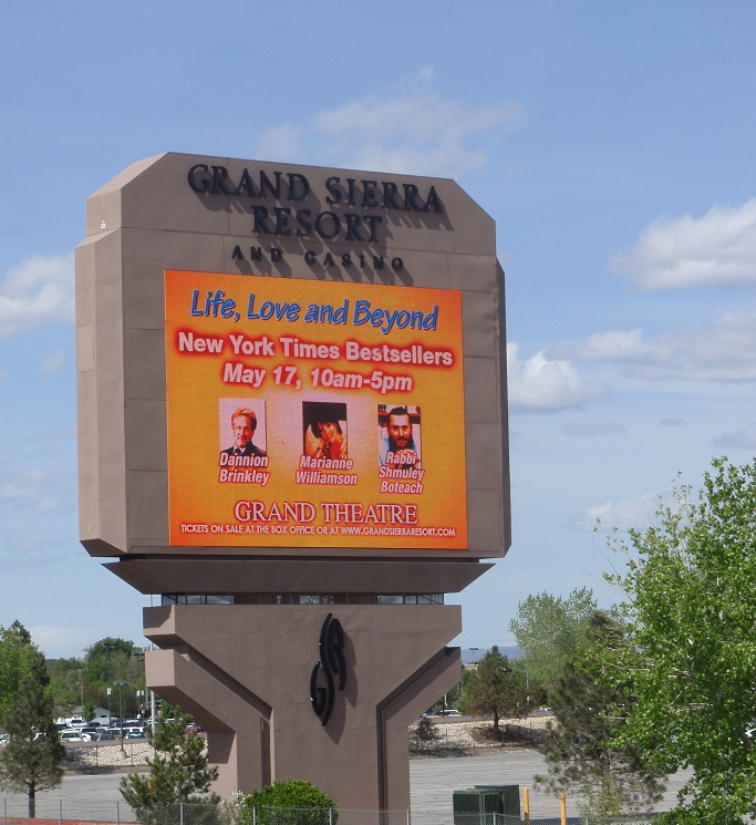 Grand Sierra Resort and Casino sign in Reno, NV
