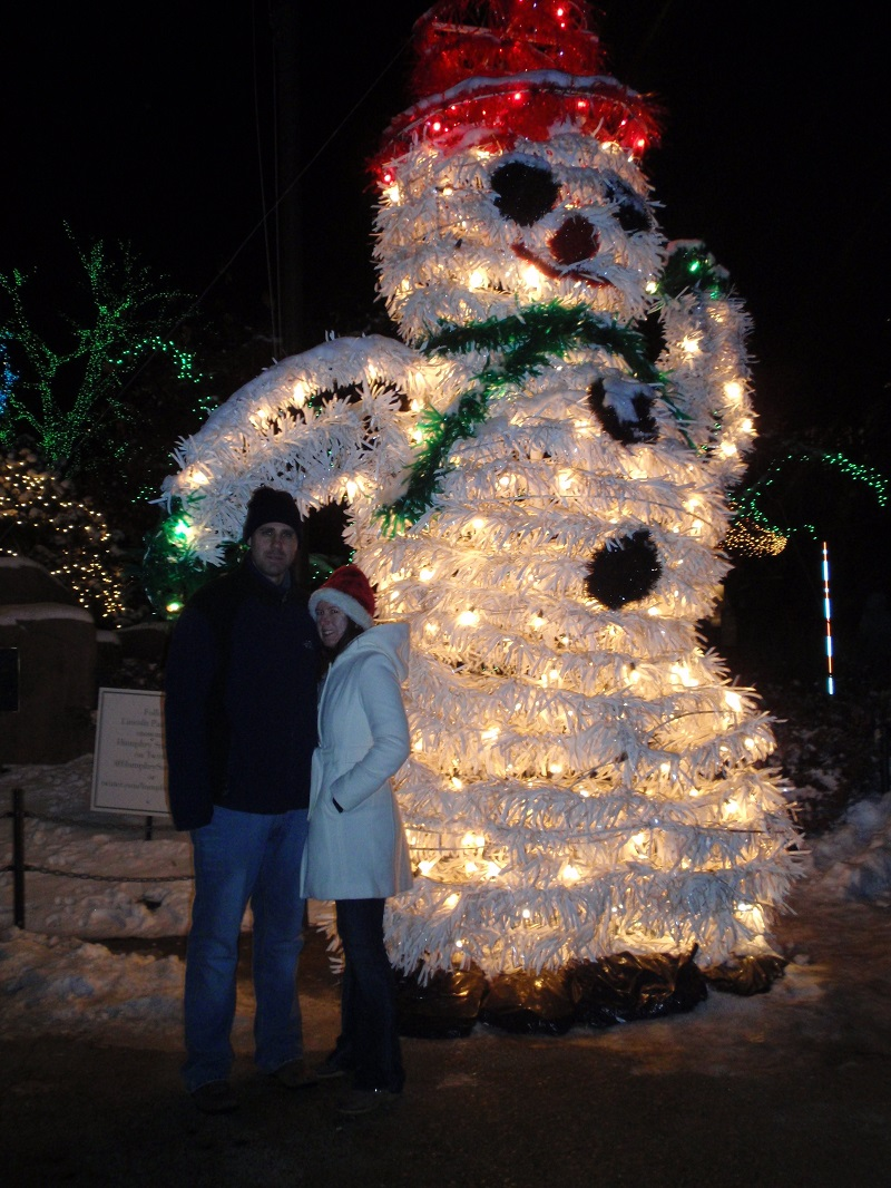 Cute snowman display at the Lincoln Park Zoo Lights
