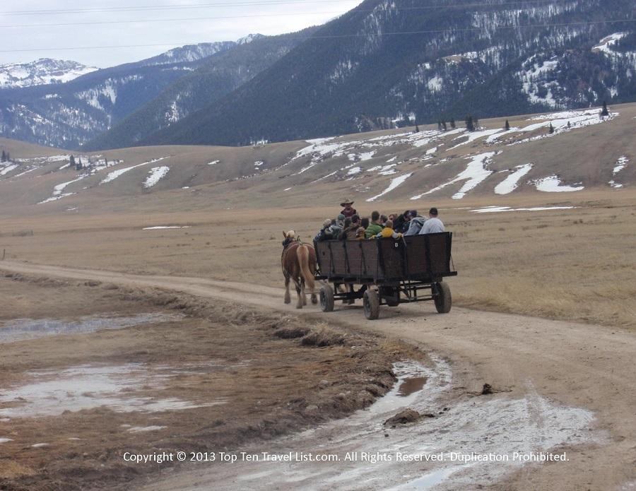 National Elk Refuge wagon ride - Jackson Hole, Wyoming