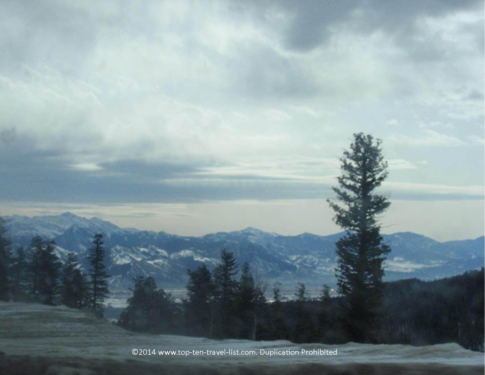 Gorgeous scenery on a drive near Jackson Hole, Wyoming