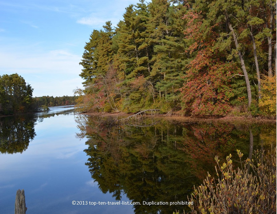 A fall hike at Myles Standish State Forest -beautiful reflection