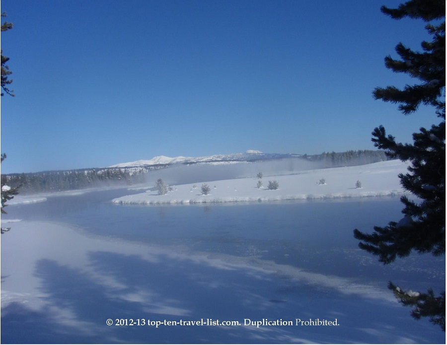 Winter scenery at Harriman State Park in Island Park, Idaho
