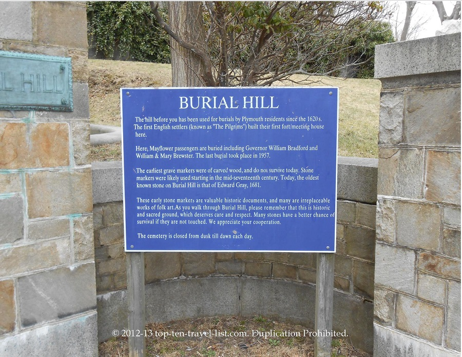 Burial Hill sign