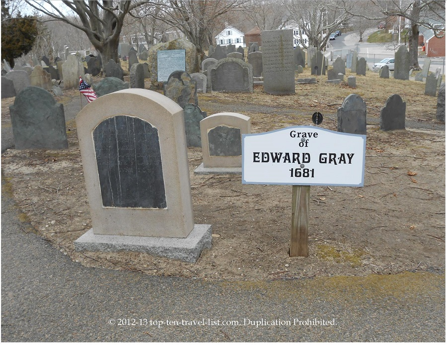 Edward Gray - oldest grave, 1681