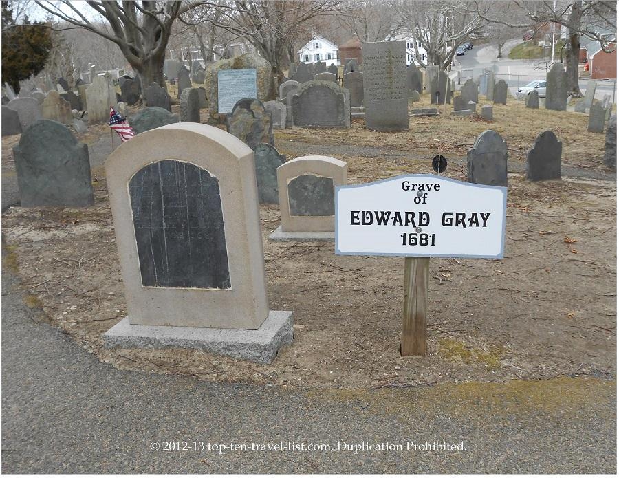 Edward Gray - oldest grave, 1681