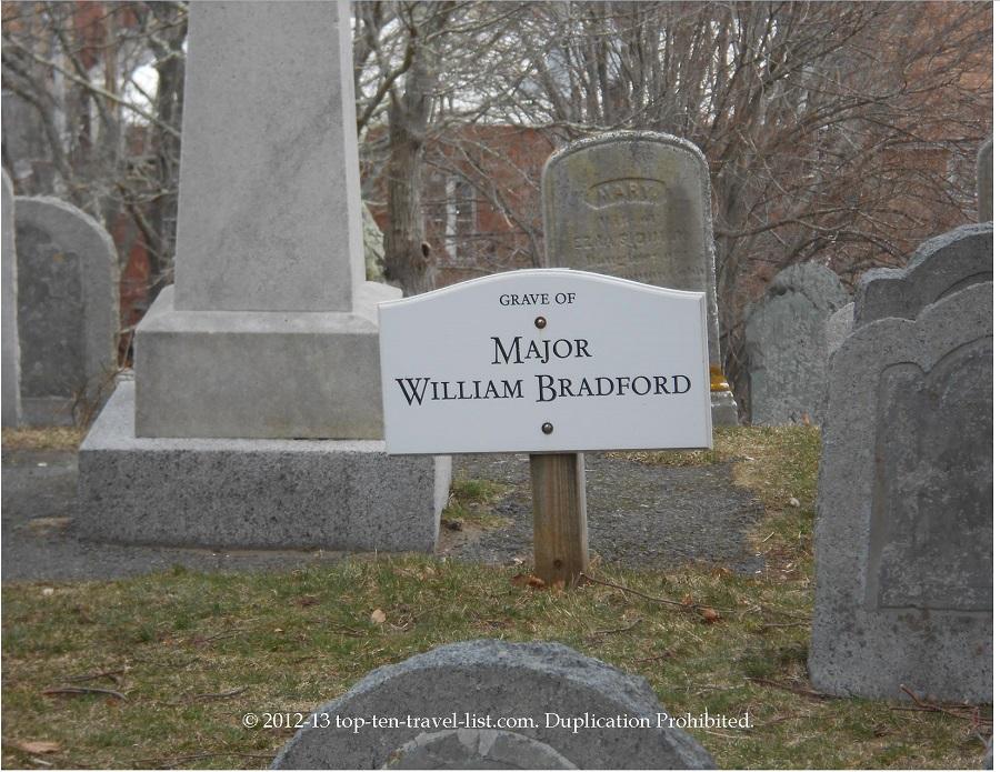 Major William Bradford grave - Burial Hill