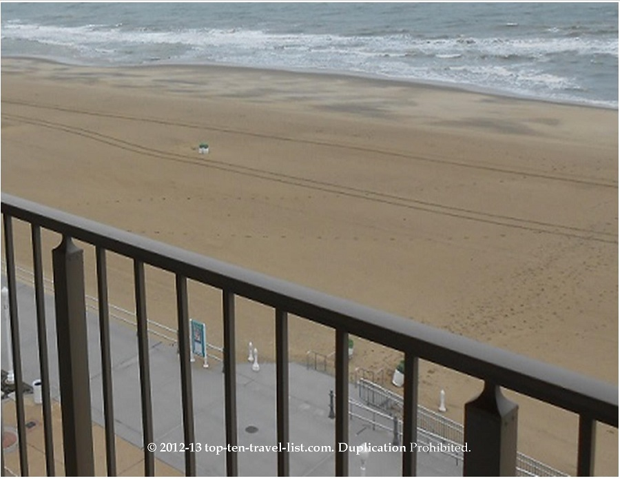 Balcony view from Best Western Plus Oceanfront in Virginia Beach