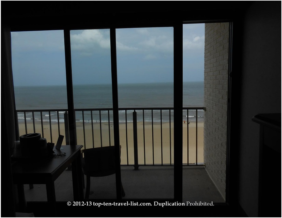 Balcony views from Best Western Plus Oceanfront in Virginia Beach