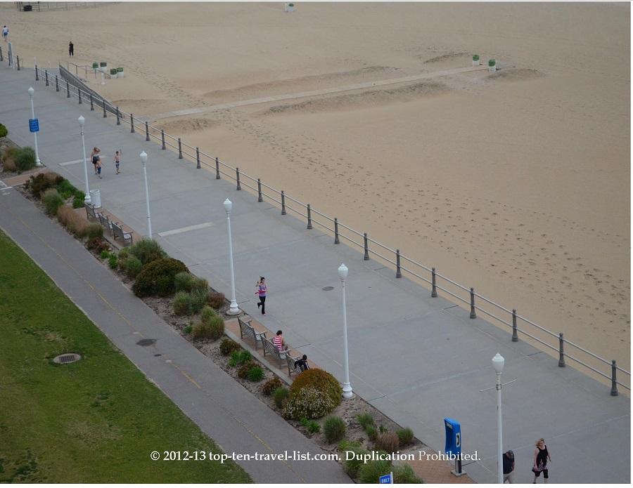 View of boardwalk from Best Western