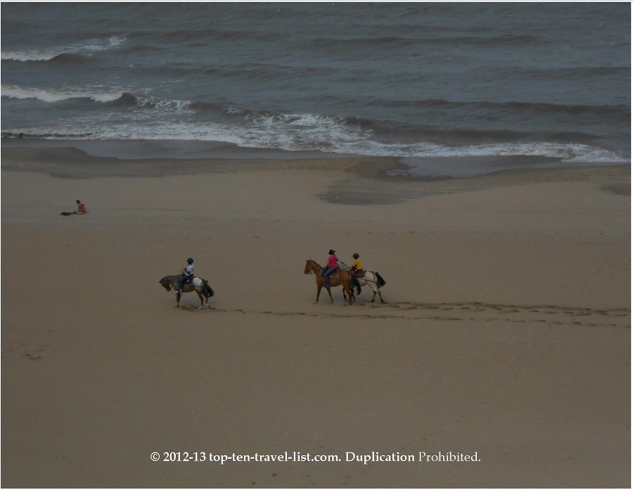 Horseback riding on the beach - Virginia Beach
