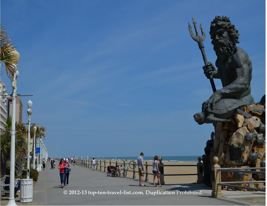 Neptune Statue on Virginia Beach boardwalk