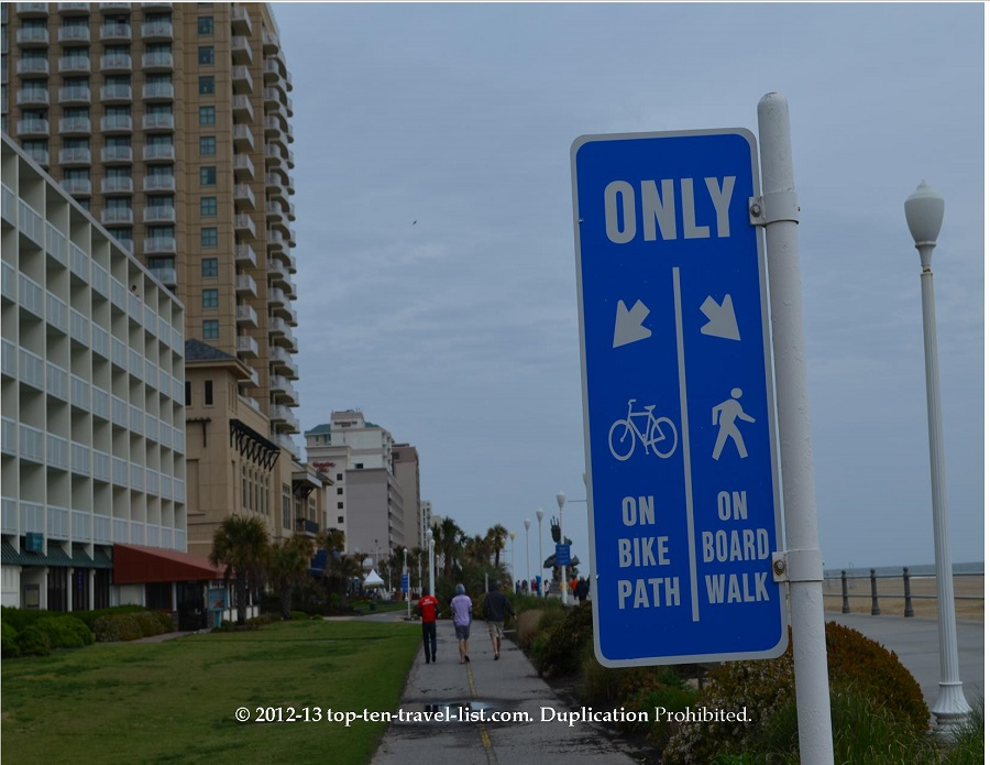 Separate biking and walking paths - Virginia Beach