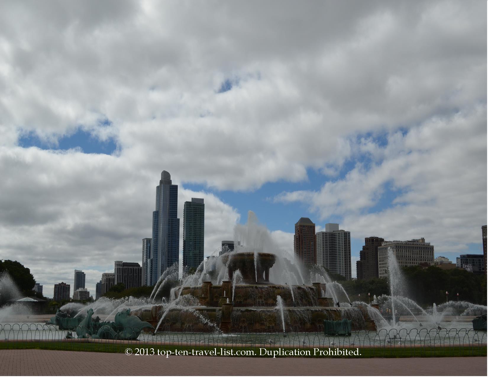 Buckingham fountain in Chicago, Illinois