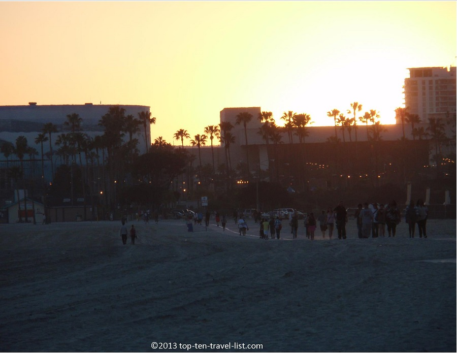 Long Beach, CA at sunet
