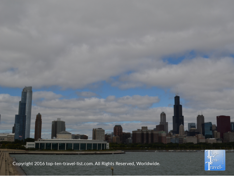 Skyline views from the Planetarium in Chicago