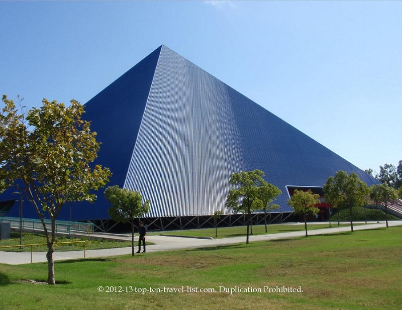 The Walter Pyramid, home to Long Beach State basketball and volleyball games