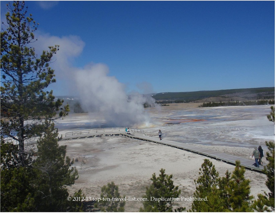 Geyser at Yellowstone