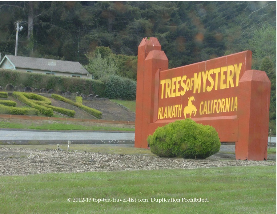Trees of Mystery sign