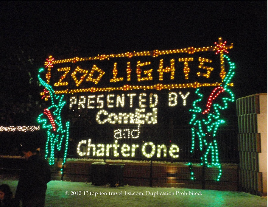 Lincoln Park ZooLights entrance sign