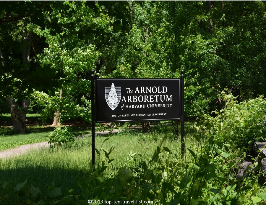 The Arnold Arboretum sign - Jamaica Plains, MA