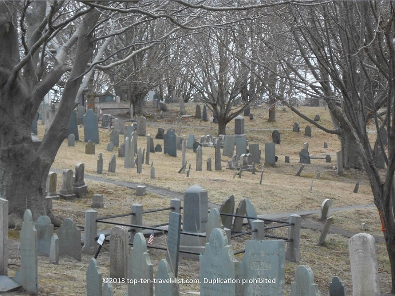 Historic Burial Hill in Plymouth MA