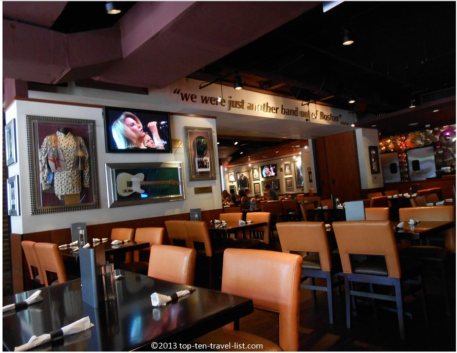 Rock Memorabilia at the Hard Rock Cafe Boston 2