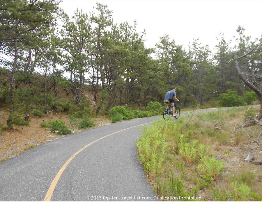 Province Lands Bike Path - big hills - Provincetown, MA