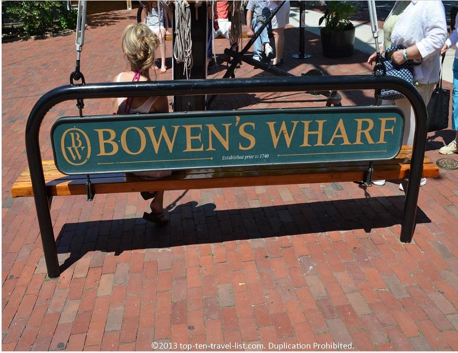 Bowen's Whaf sign - Newport, Rhode Island