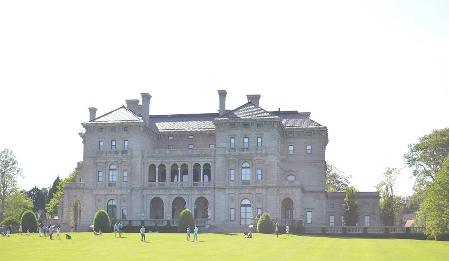 The Breakers Mansion along CliffWalk in Newport, Rhode Island
