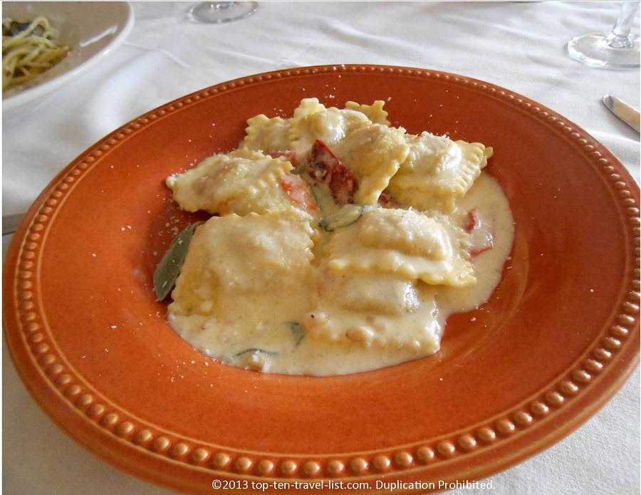 Butternut Squash Ravlioli at Mamma Luisa Ristorante in Newport, RI