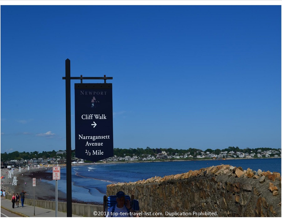 CliffWalk start - Newport, Rhode Island