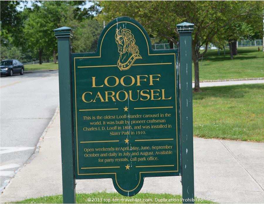 Looff Carousel Sign - Pawtucket, Rhode Island