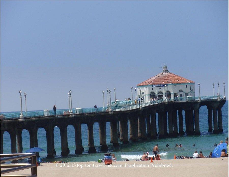 Manhattan Beach Pier - view from the South Bay Bicycle Path - California