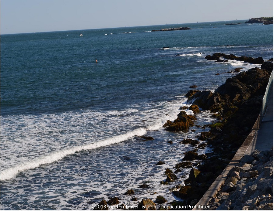 Beautiful ocean views from Newport's CliffWalk