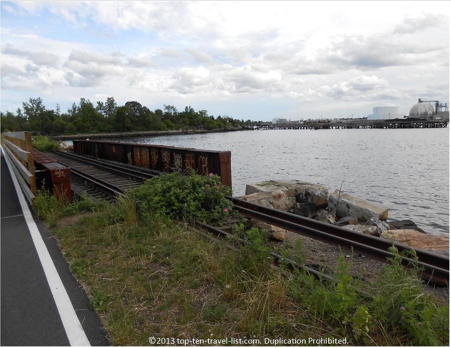 Old railroad on East Bay Bike Path, Rhode Island